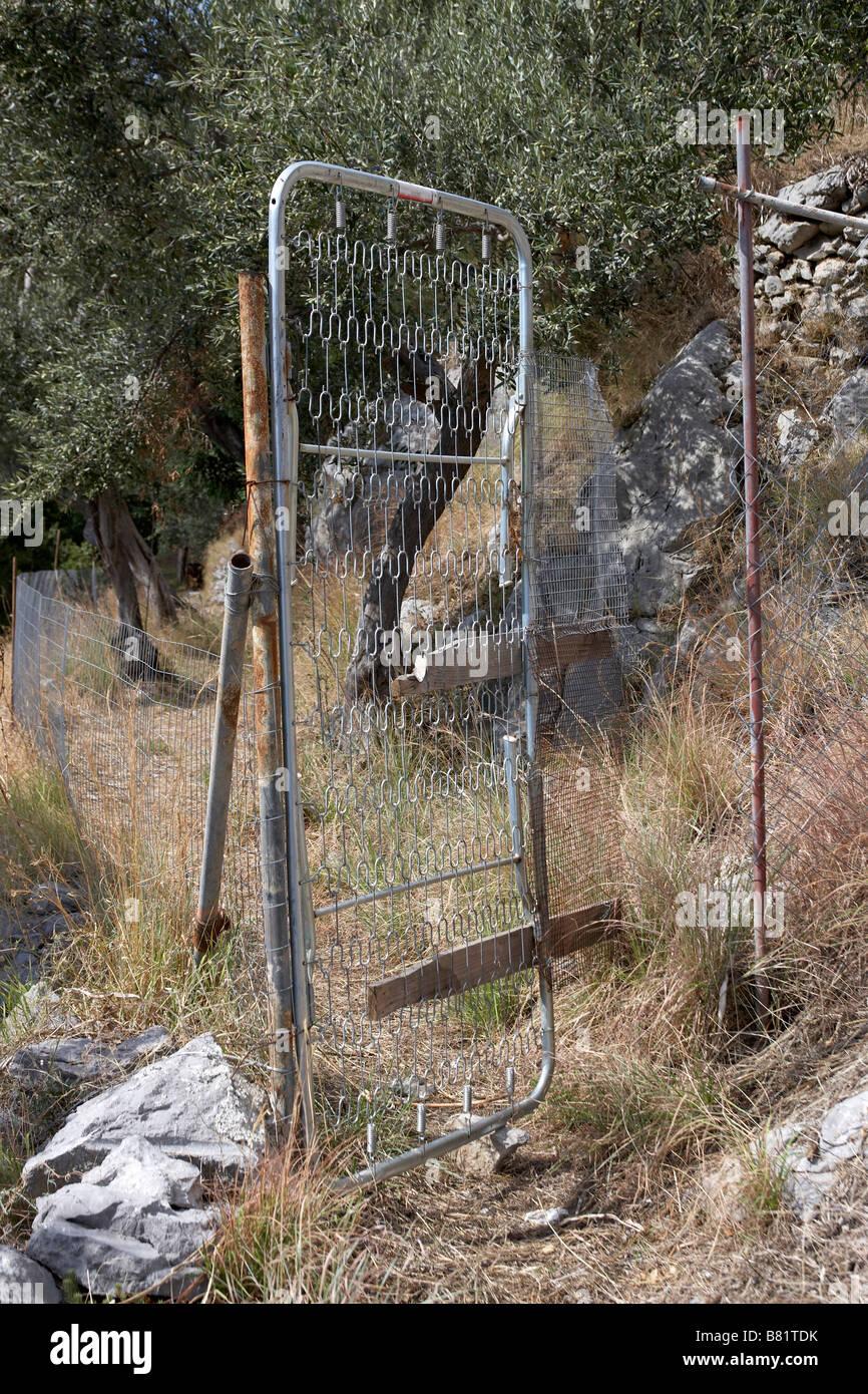 Verfallenen Zaun Und Tor Positano Amalfi Kuste Stockfoto Bild