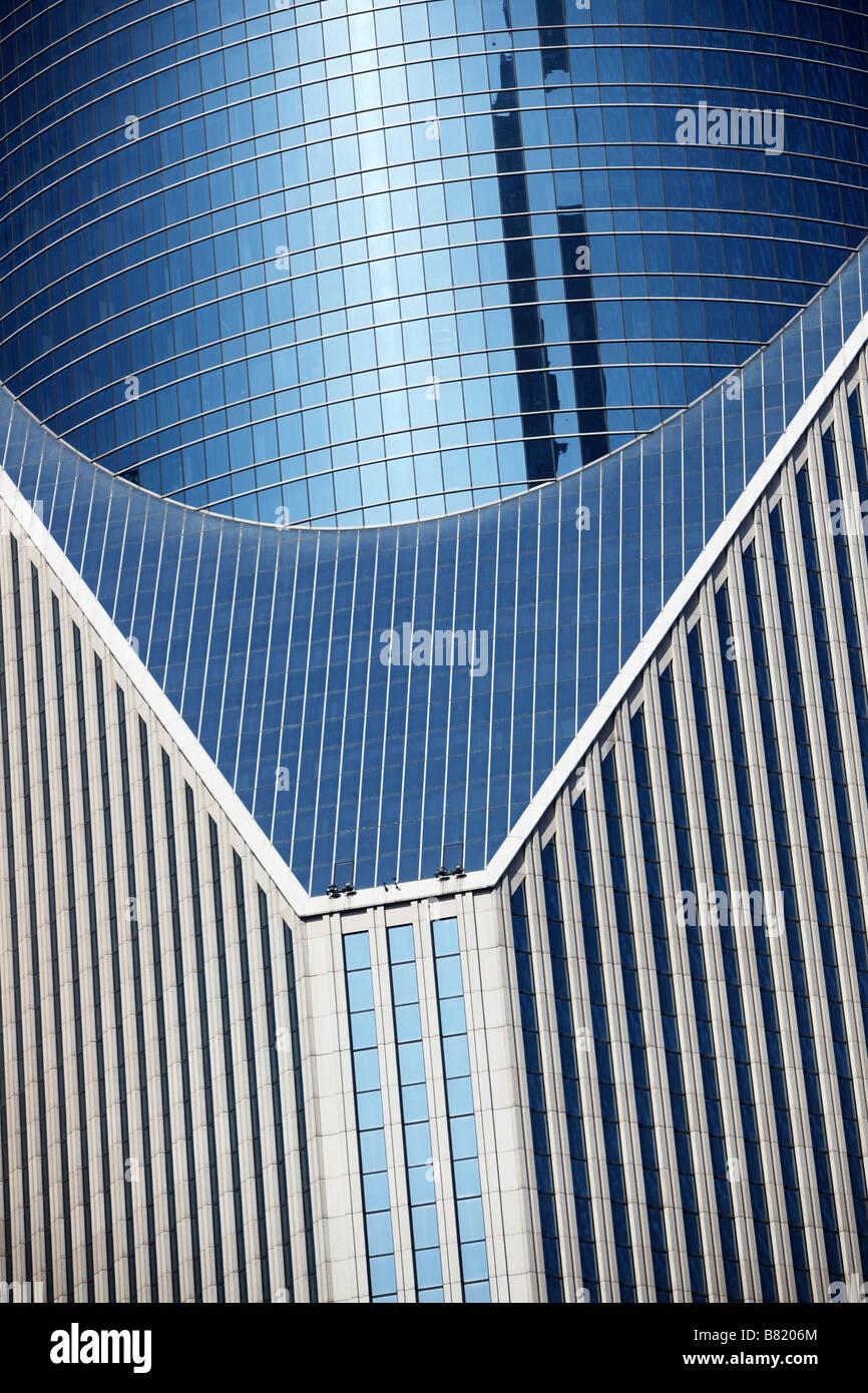 Detail der zentralen Bürogebäude in Shanghai Stockbild
