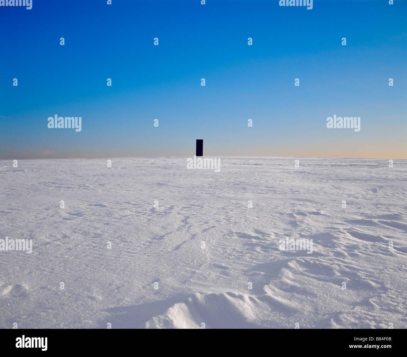 Bramme Für Das Ruhrgebiet von Richard Serra Auf der Schurenbach Halde Im Schnee Stockbild