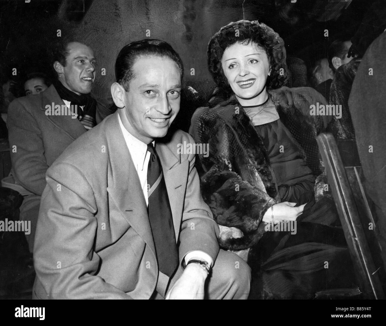 Piaf und Jean-louis Jaubert, 1948 Stockbild