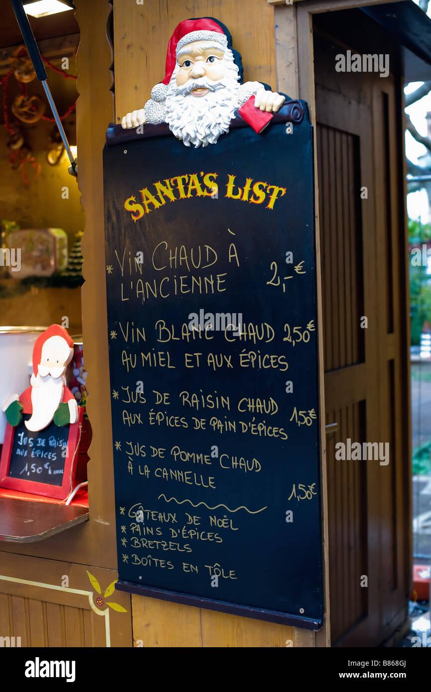 Santas Liste für Glühwein Weine und alkoholfreie Getränke am ...