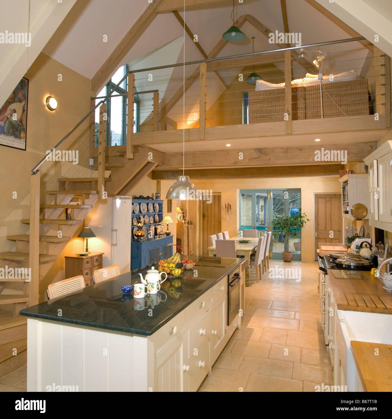 UK. Ein Haus, Inneneinrichtung, Küche Stockfoto, Bild