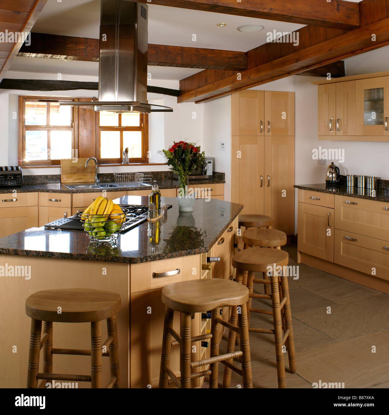 Unit Kitchen Kitchens Domestic Stockfotos & Unit Kitchen
