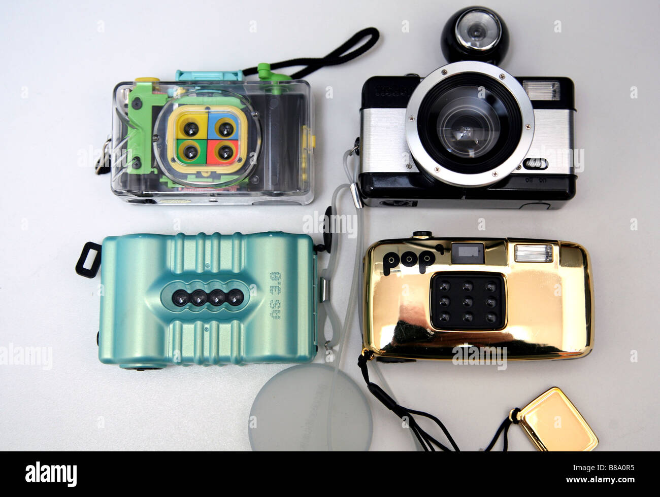 Lomo-Multi-Linse und Fischaugen-Kameras Stockfoto