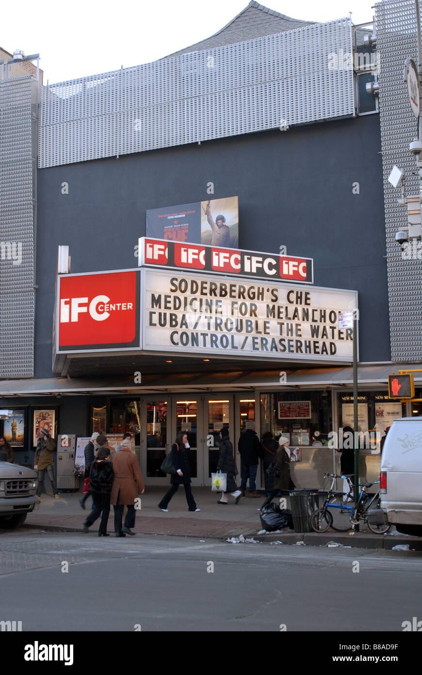 Die IFC-Theater in Greenwich Village in New York Stockbild
