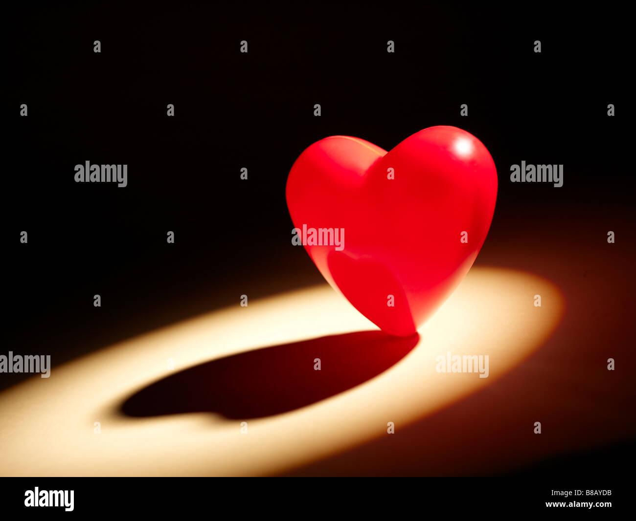 Valentine Herzen horizontale Stockbild