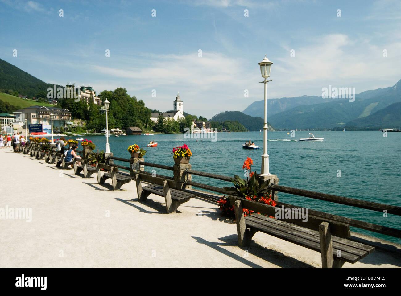 Lake Wolfgangsee Österreich Stockbild