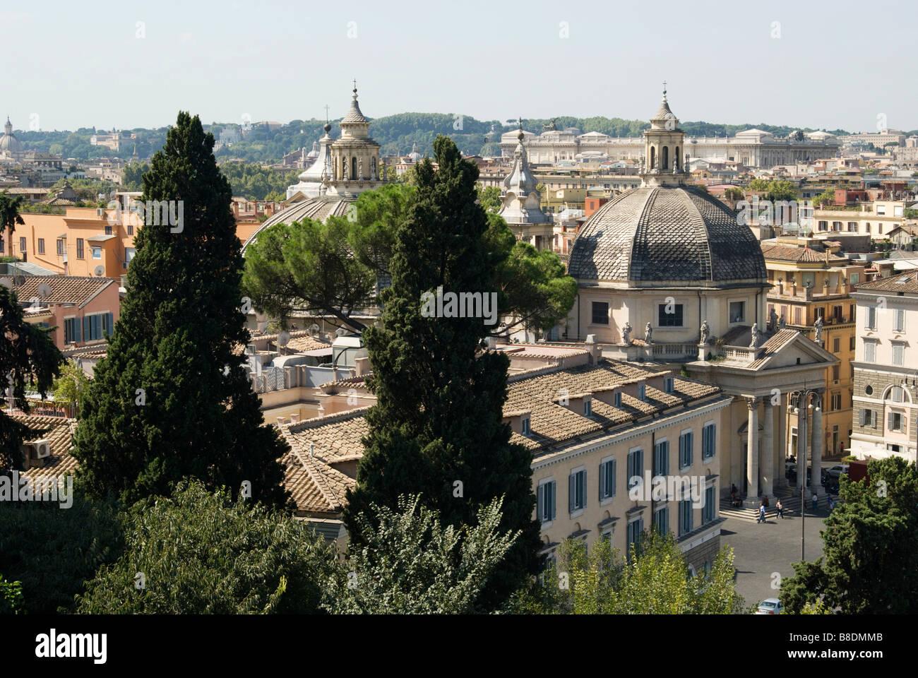 Kirchen in Rom Stockbild