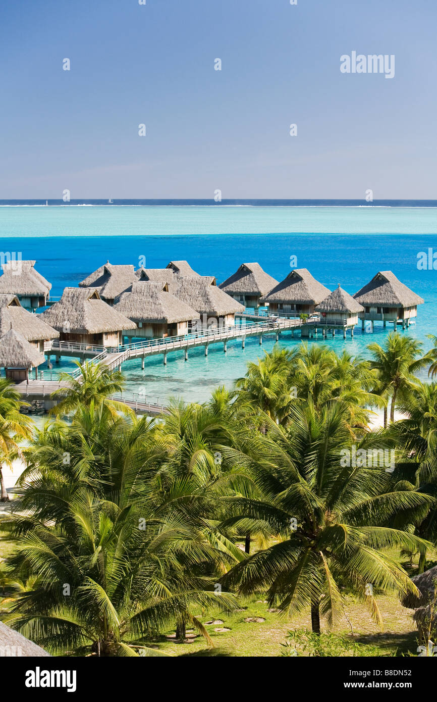 Holiday Resort auf Bora bora Stockbild