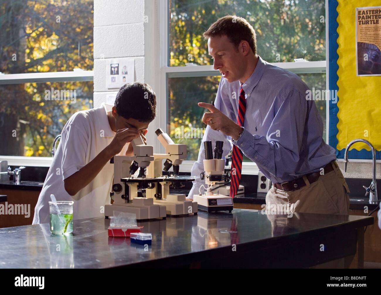 High School Wissenschaft Klassenzimmer Stockfoto