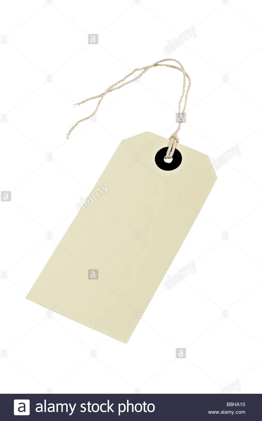 Gepäck/Paket-tag Stockbild