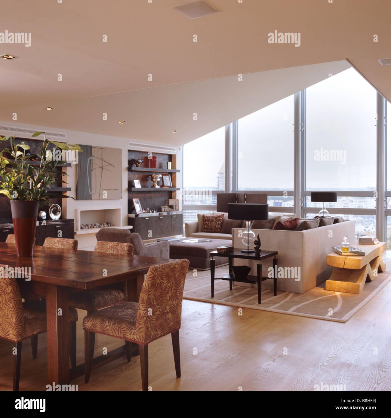Klassische zeitgenössische London am Fluss Penthouse-Wohnung mit ...