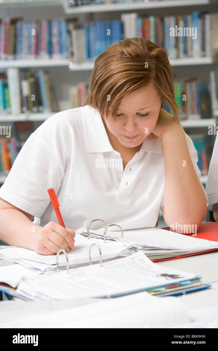Studenten schreiben und studieren Stockfoto, Bild: 22552257 - Alamy