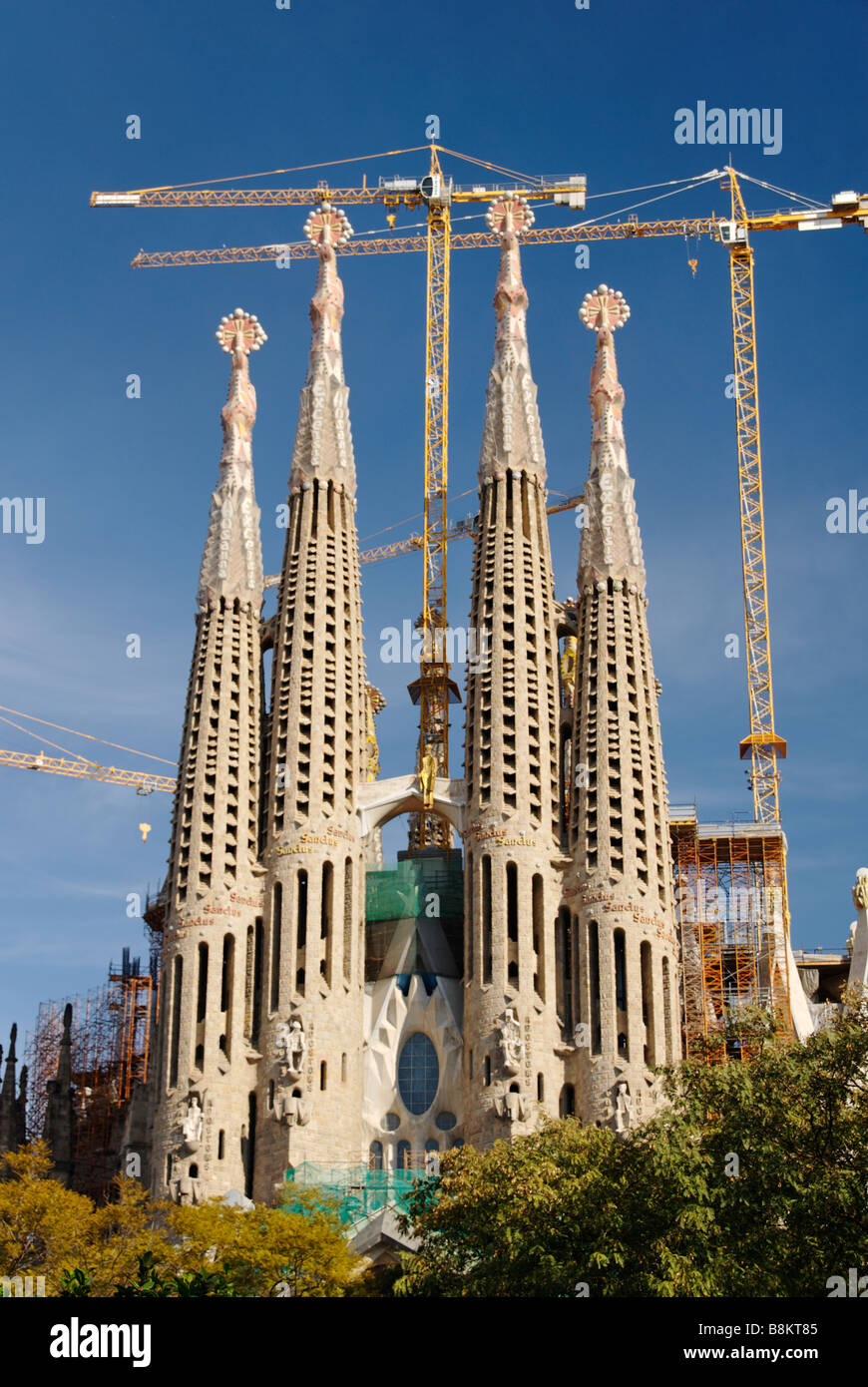 Sagrada Família Kirche modernistischen Architekten Antoni Gaudí Barcelona Spanien Stockbild