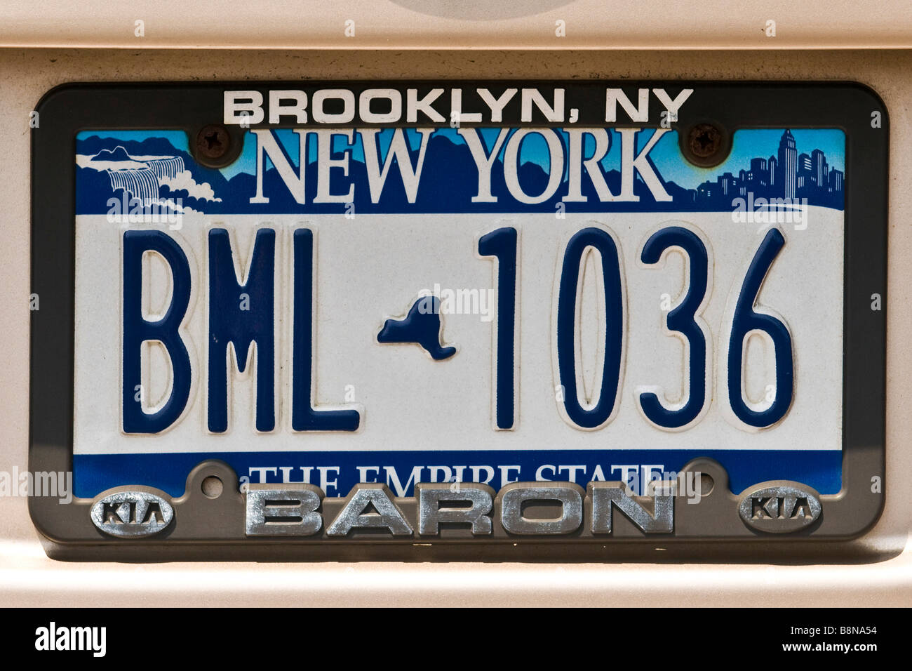 New York-Nummernschild Stockbild