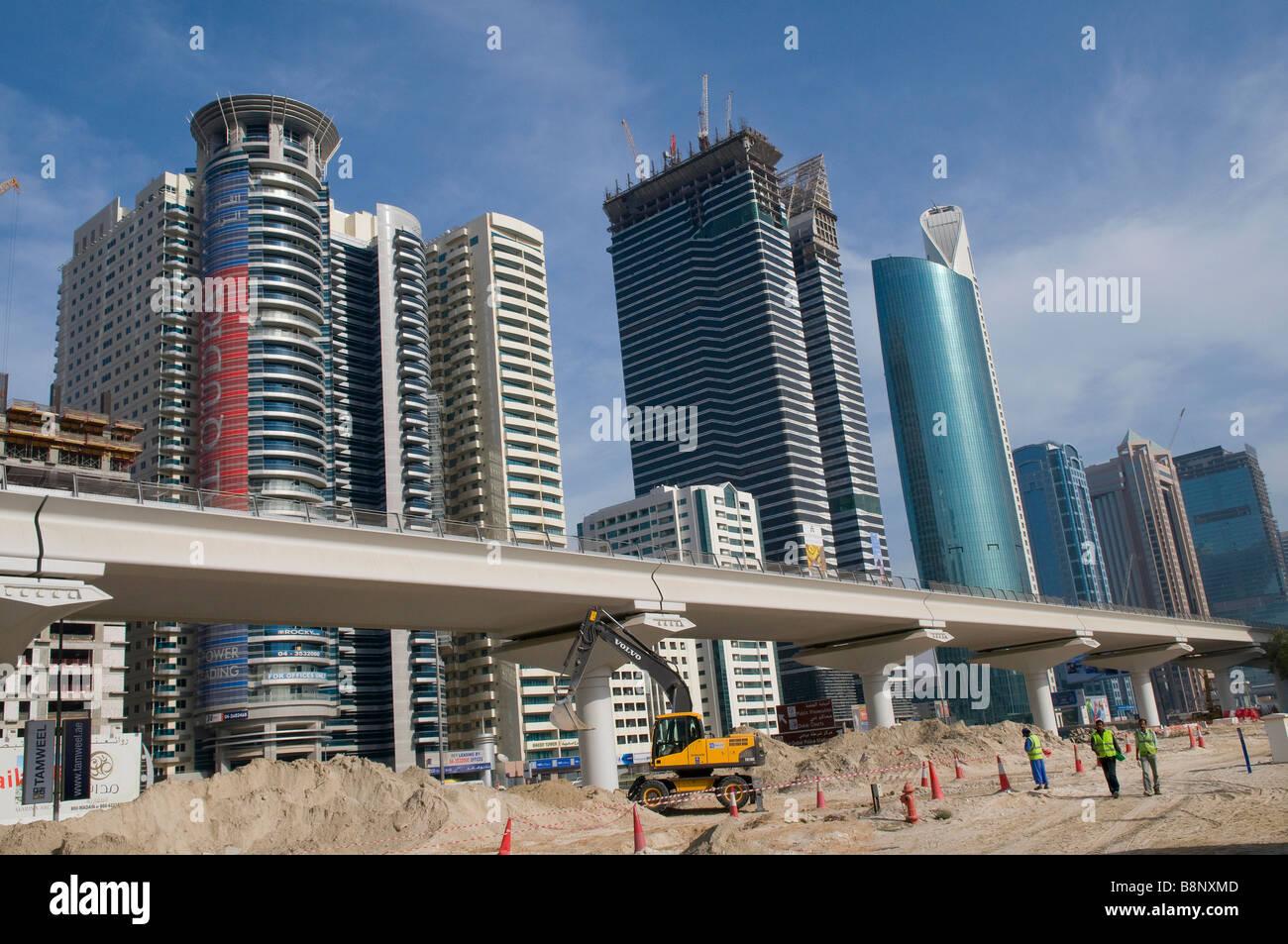 moderne zeitgenössische Architektur, Dubai, Vereinigte Arabische Emirate Stockbild