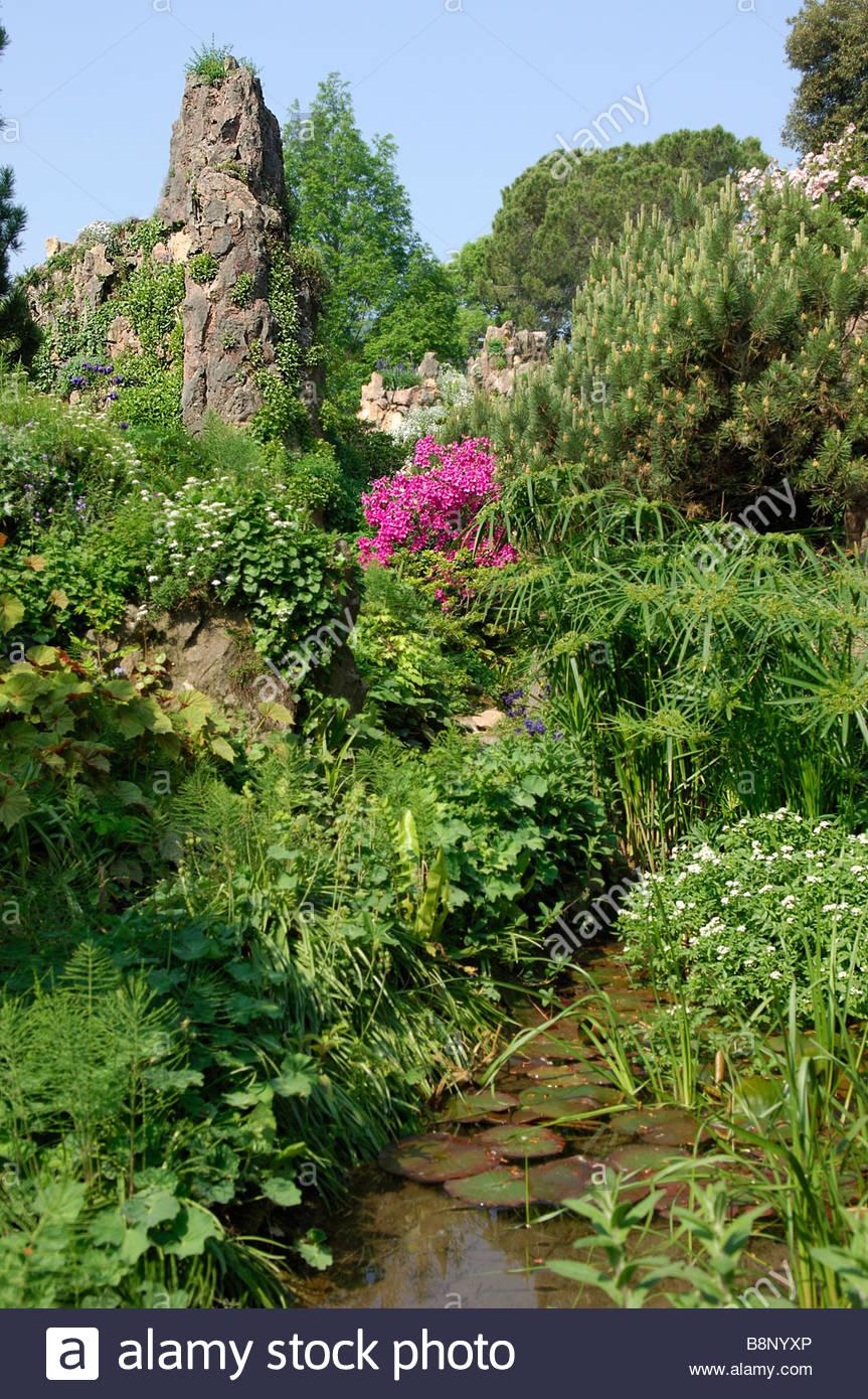 Lago Di Garda Gardone Riviera Botanische Garten Hruska Heller