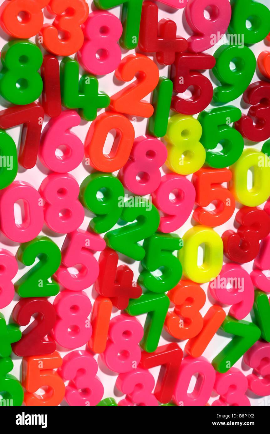 Magnetische Kühlschrank Zahlen Stockbild