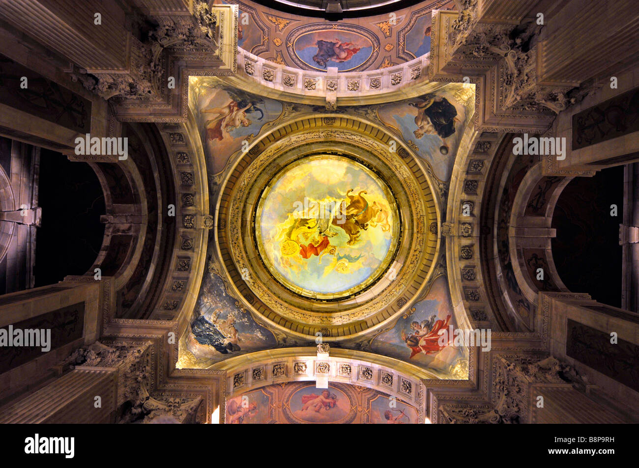 "Die Decke der großen Halle bei ""Castle Howard"" Yorkshire, England, UK Stockbild"