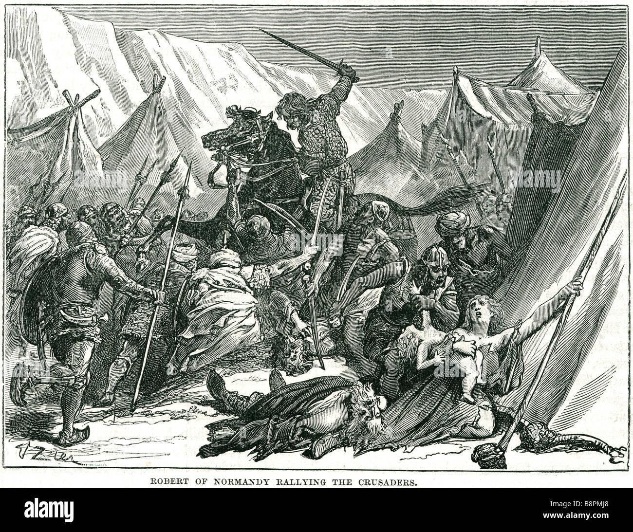 Robert von der Normandie Rallye die Kreuzritter Robert Curthose oder Robert II (c. 1051 oder 1054 ? 10. Februar Stockbild