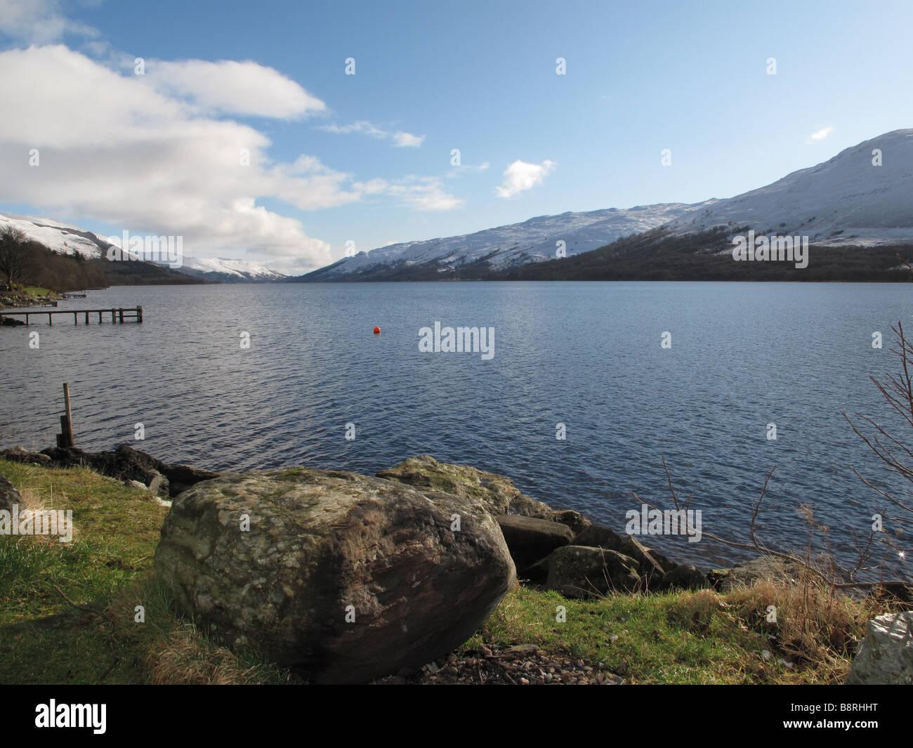Loch Earn Perthshire Schottland Stockbild