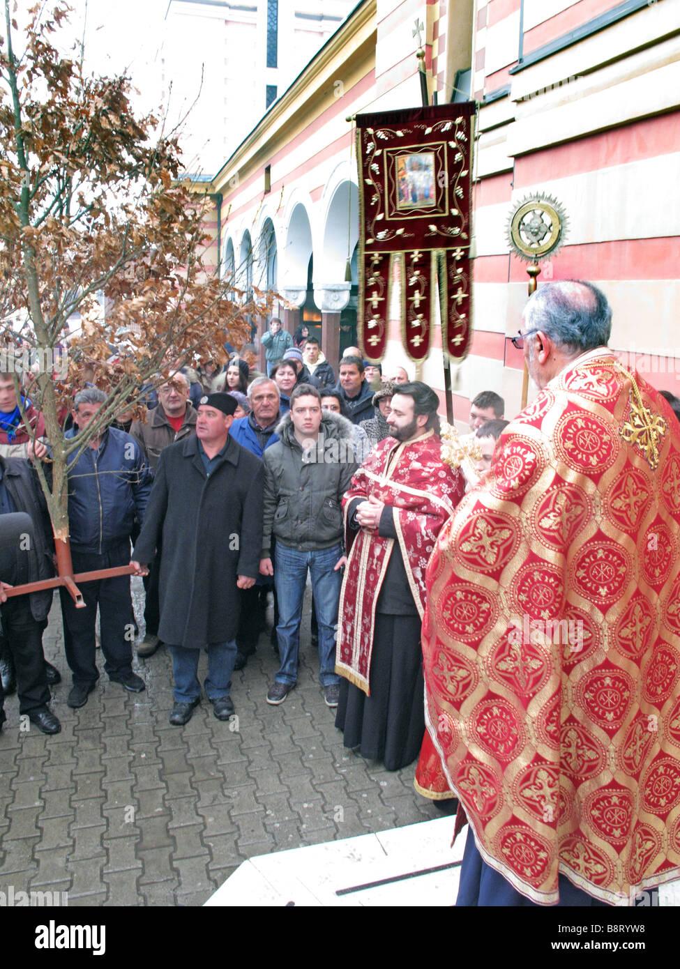 Orthodoxe Weihnachten.Orthodoxe Weihnachten Segen Badnjak Weihnachtsbaum
