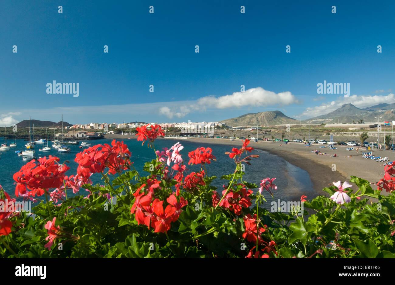 Der Strand und die Küste Las Galletas Village Resort umrahmt von ...