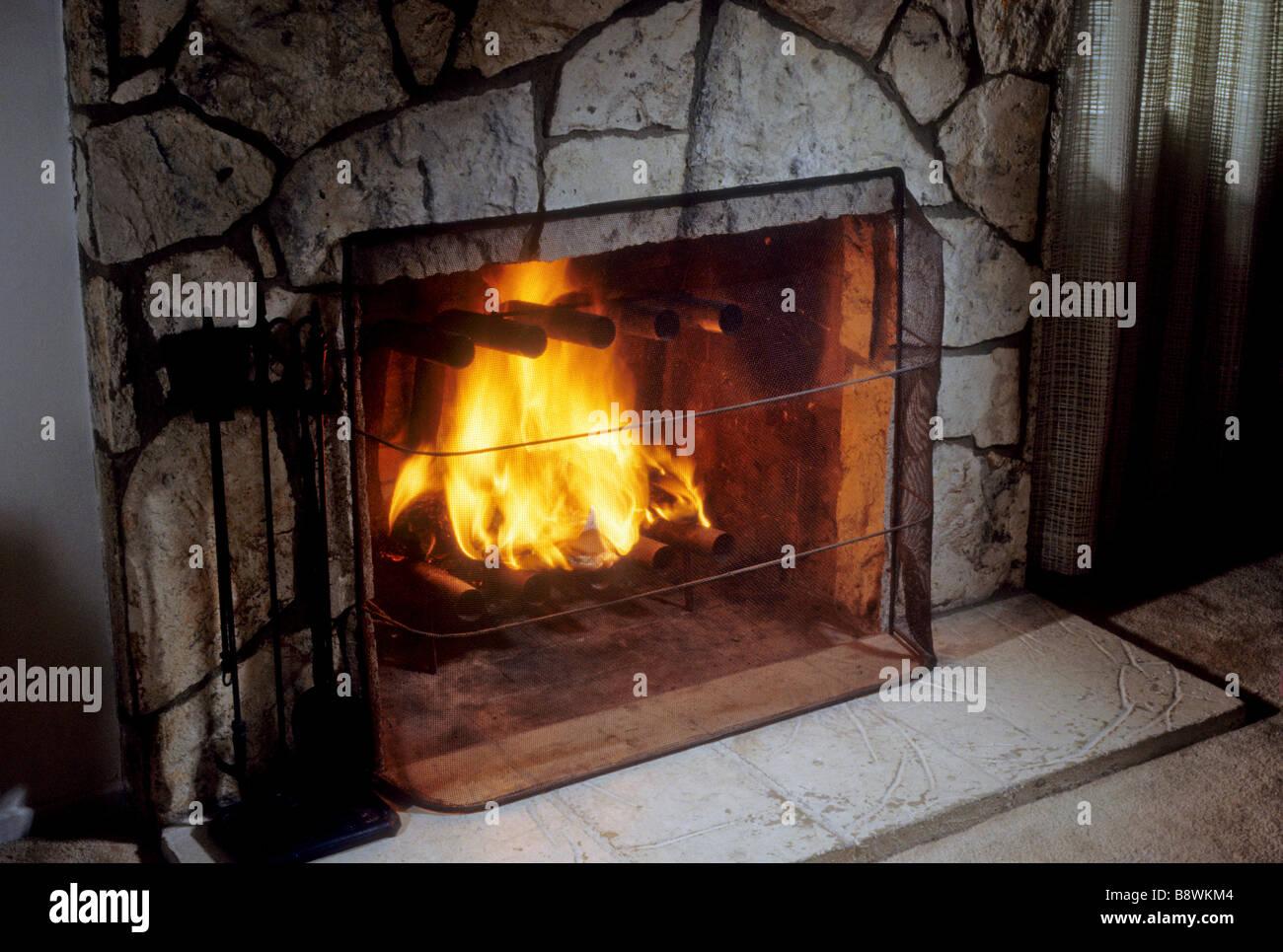 brüllen holz brennen kamin feuerstelle bildschirm sicheren