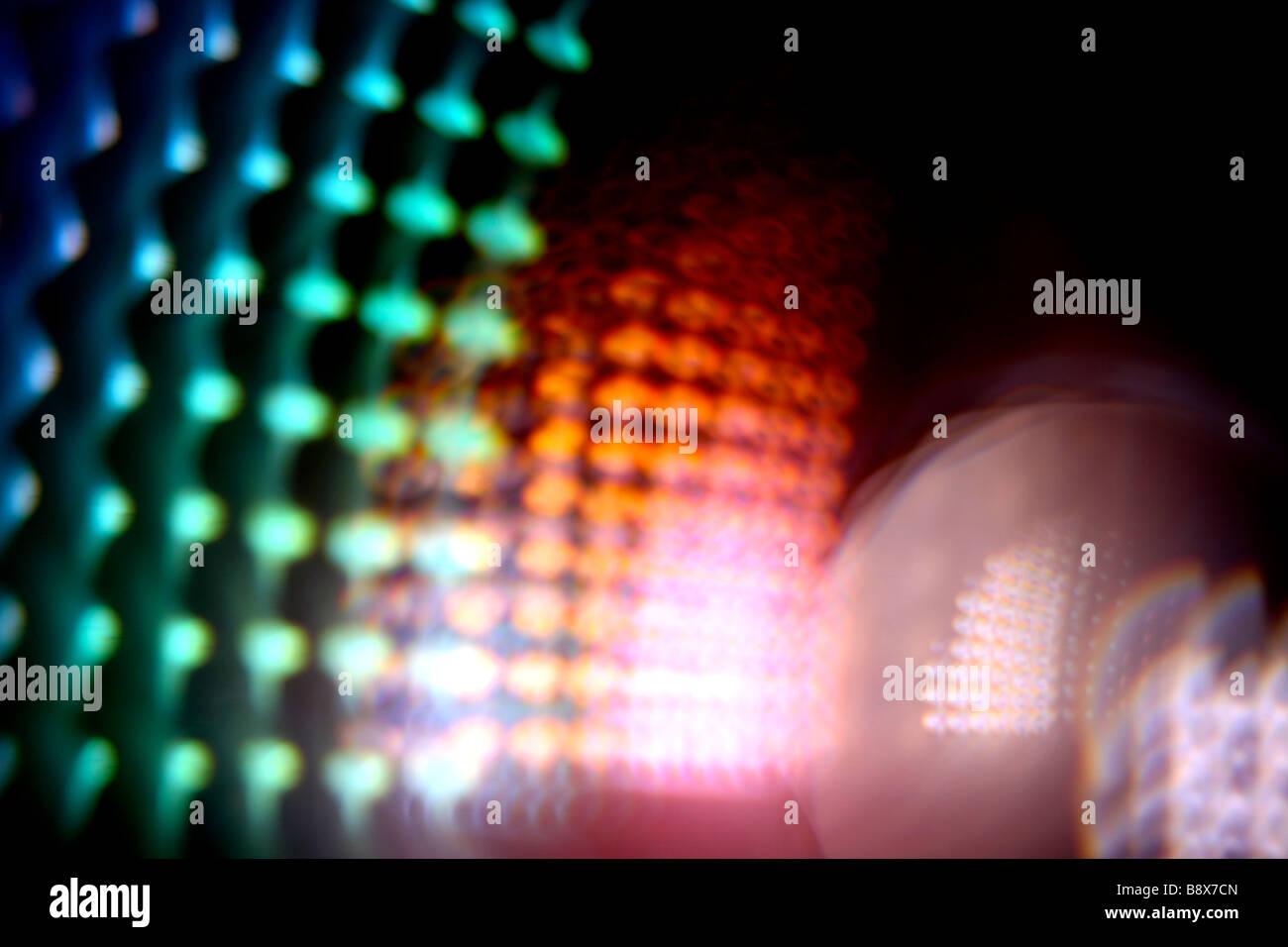 Abstrakte Licht in einem Objektiv, England Stockbild