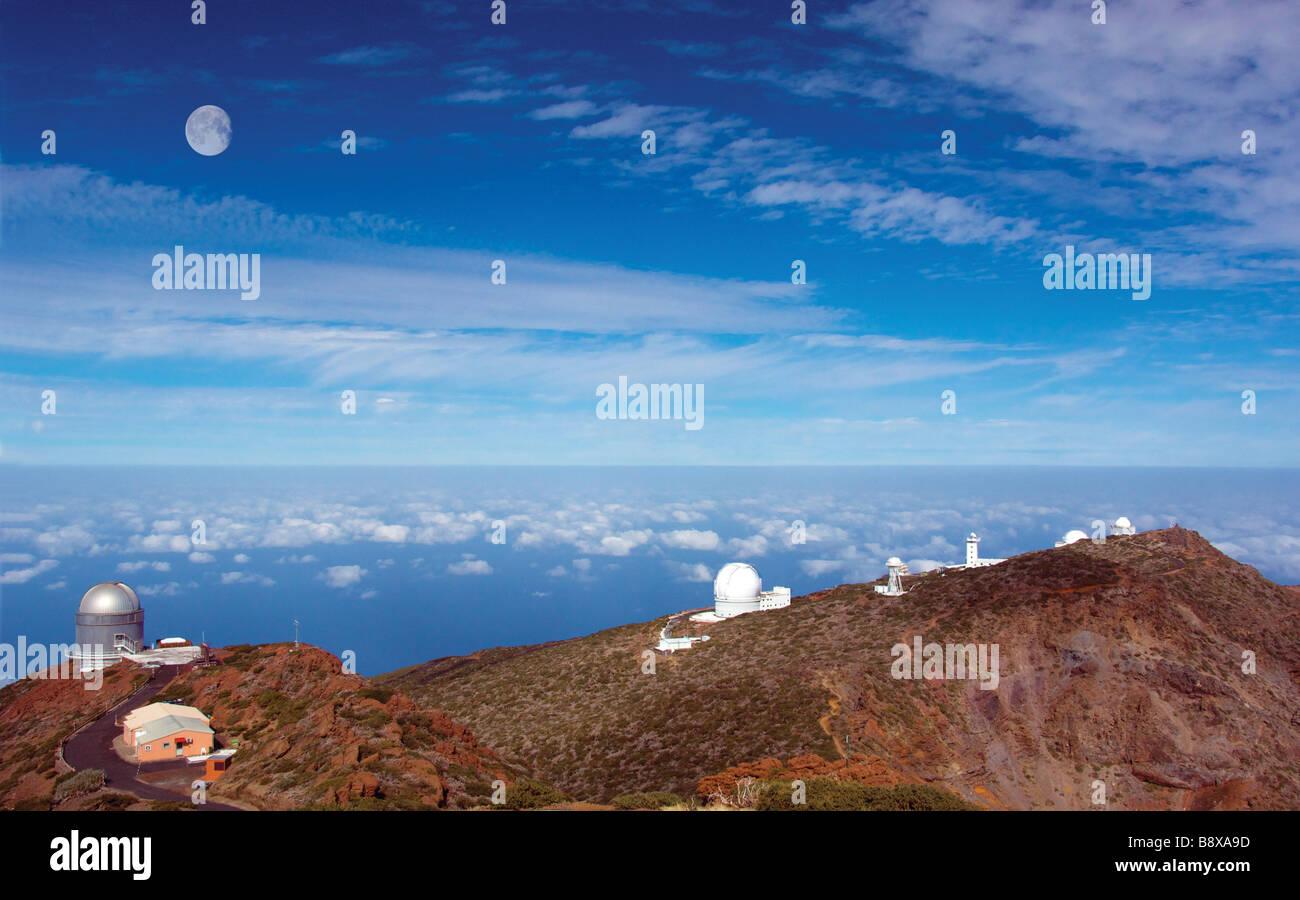 Canarias europäischen nördlichen Obseratory La Palma Carnery Insel astronomische Observartory, Spanien, Stockbild