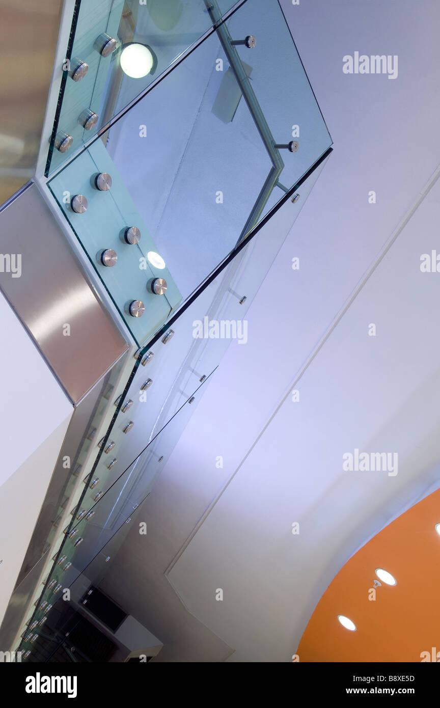 Glasgeländer Stockbild