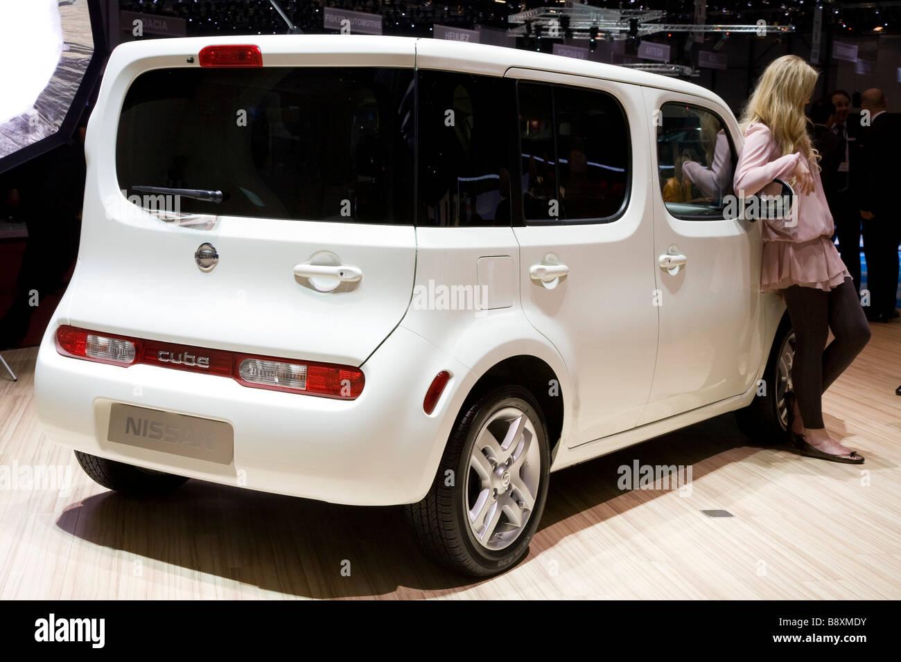 Nissan Cube Auf Einem Europaischen Motor Show Gezeigt Stockfoto