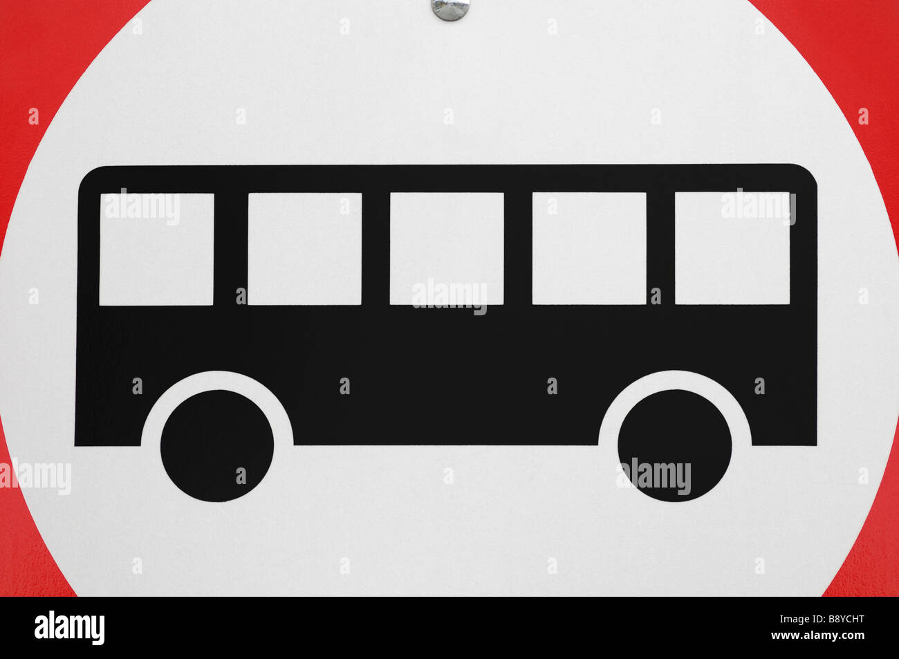 Busse nur Straßenschild Stockbild