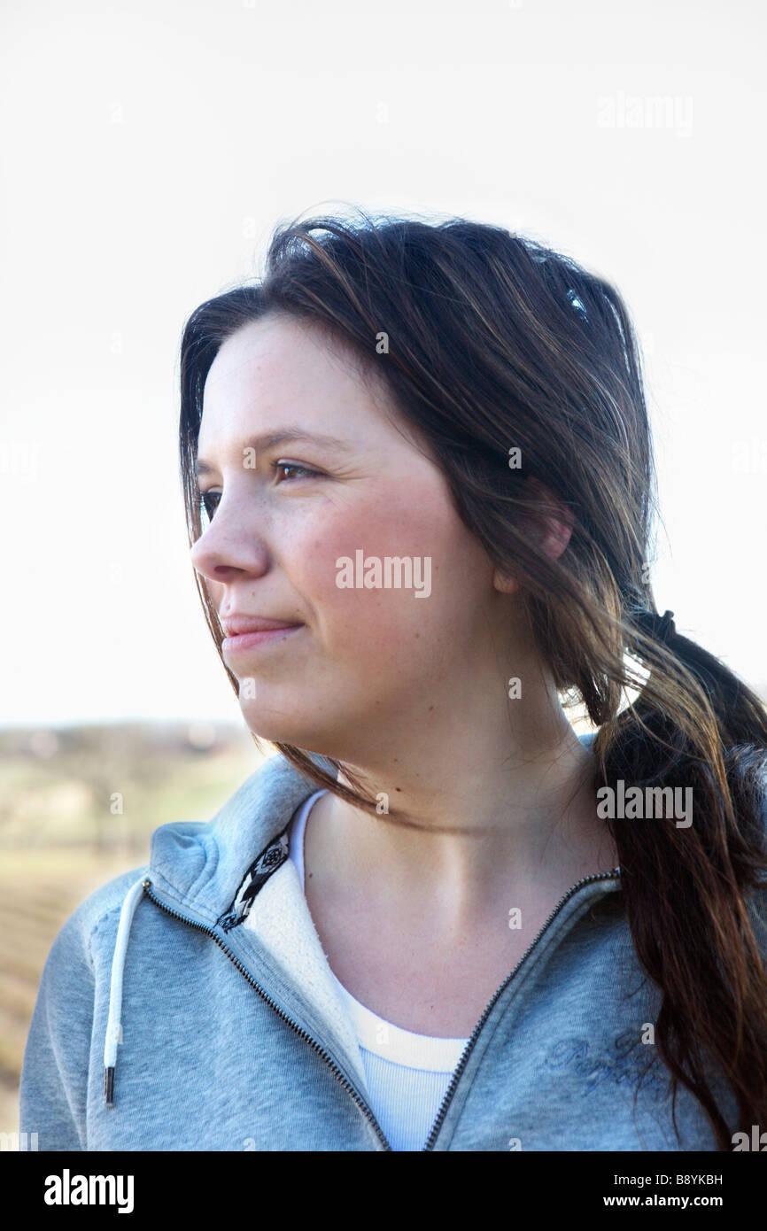 Porträt einer jungen Frau Schweden. Stockbild
