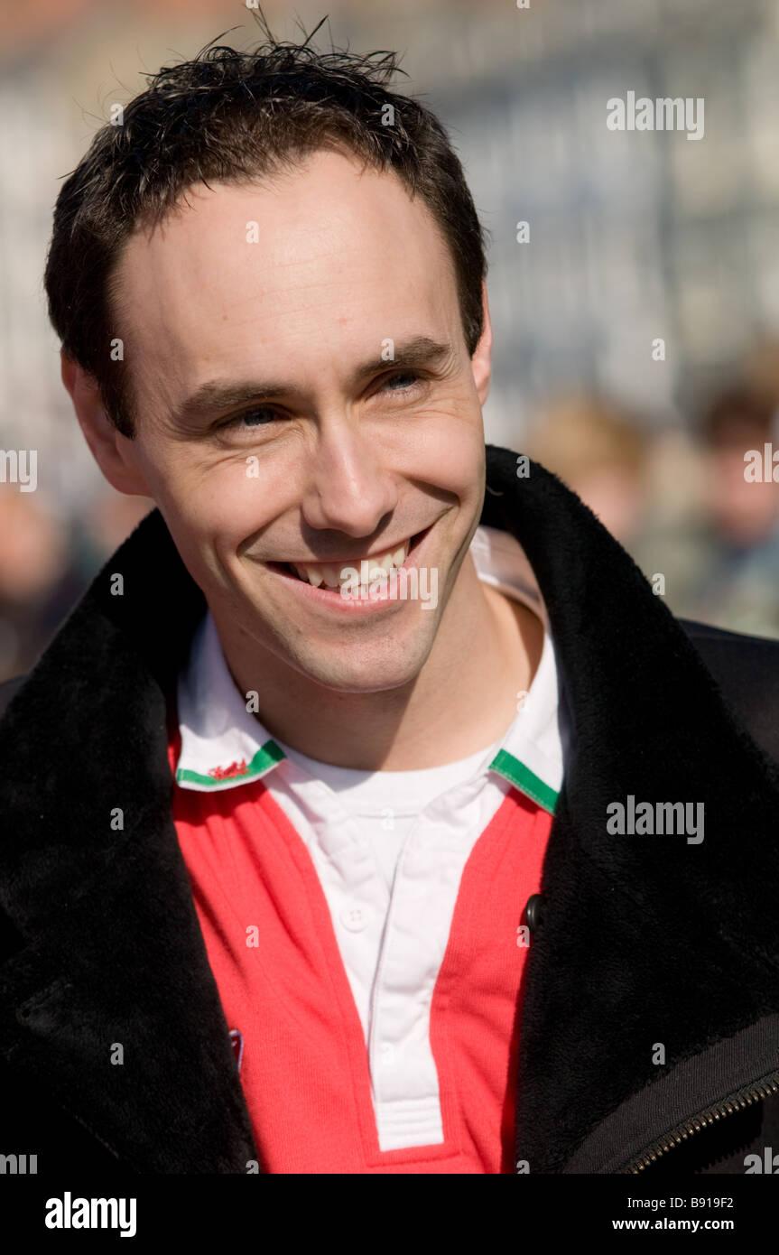 Radio 1 Persönlichkeit BB Aled (Produzent von das Chris Moyles Erscheinen) Stockbild