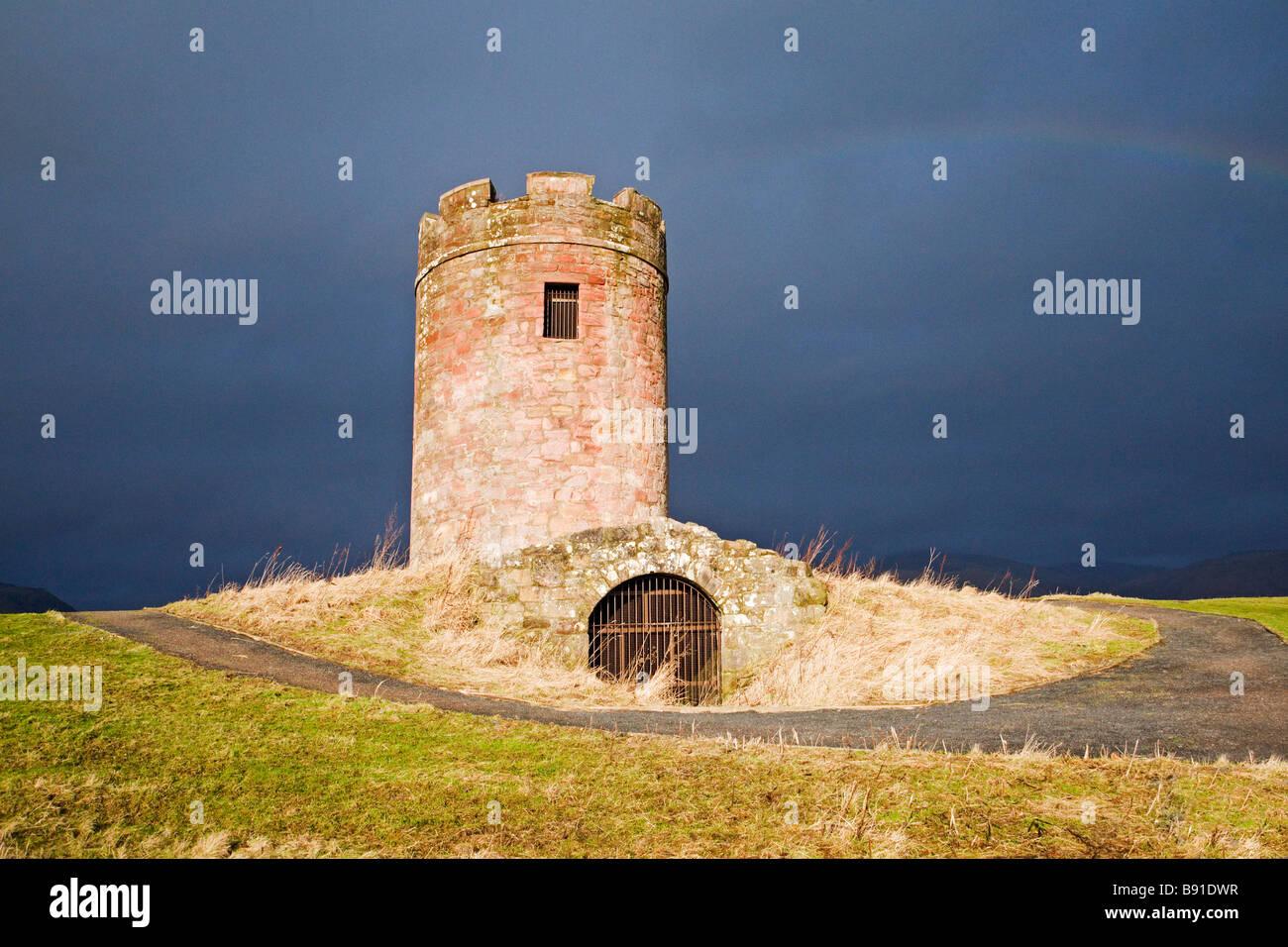 Auchinbaird Windmühle Fishcross in der Nähe von Alloa die Struktur auch als ein Doocot Taubenschlag verwendet Stockbild