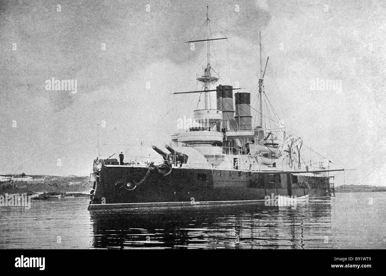 Schlachtschiff zwölf Apostel aus der Sammlung des historischen Museums Stockbild