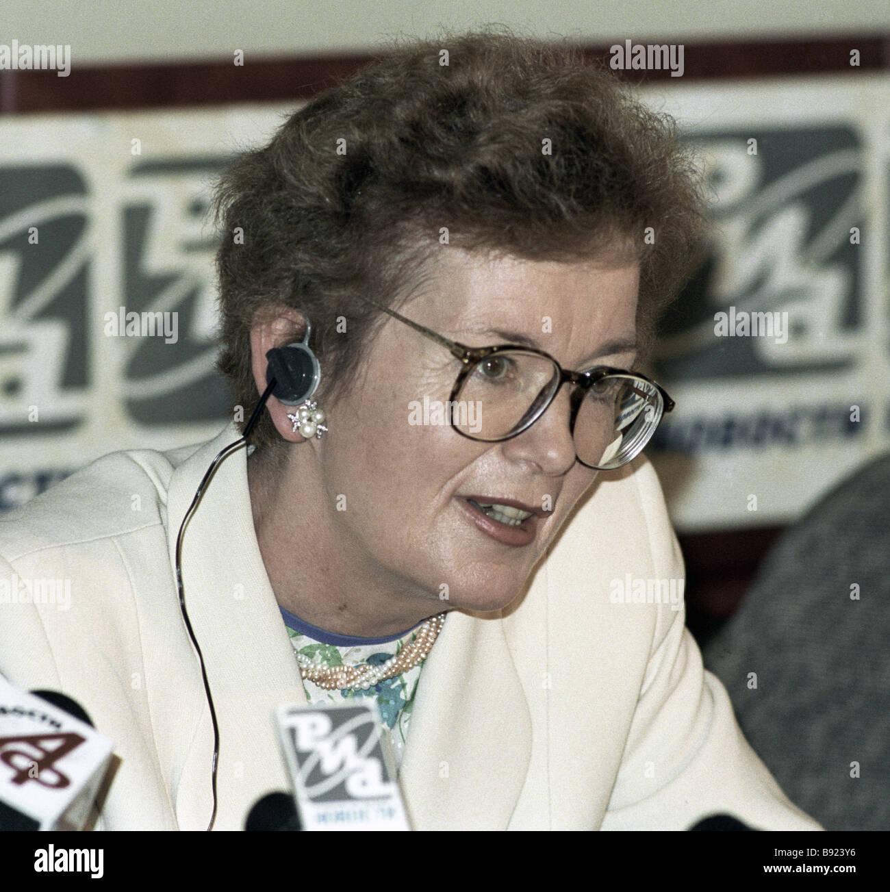 UN-Hochkommissarin für Menschenrechte Menschenrechte Mary Robinson Stockbild