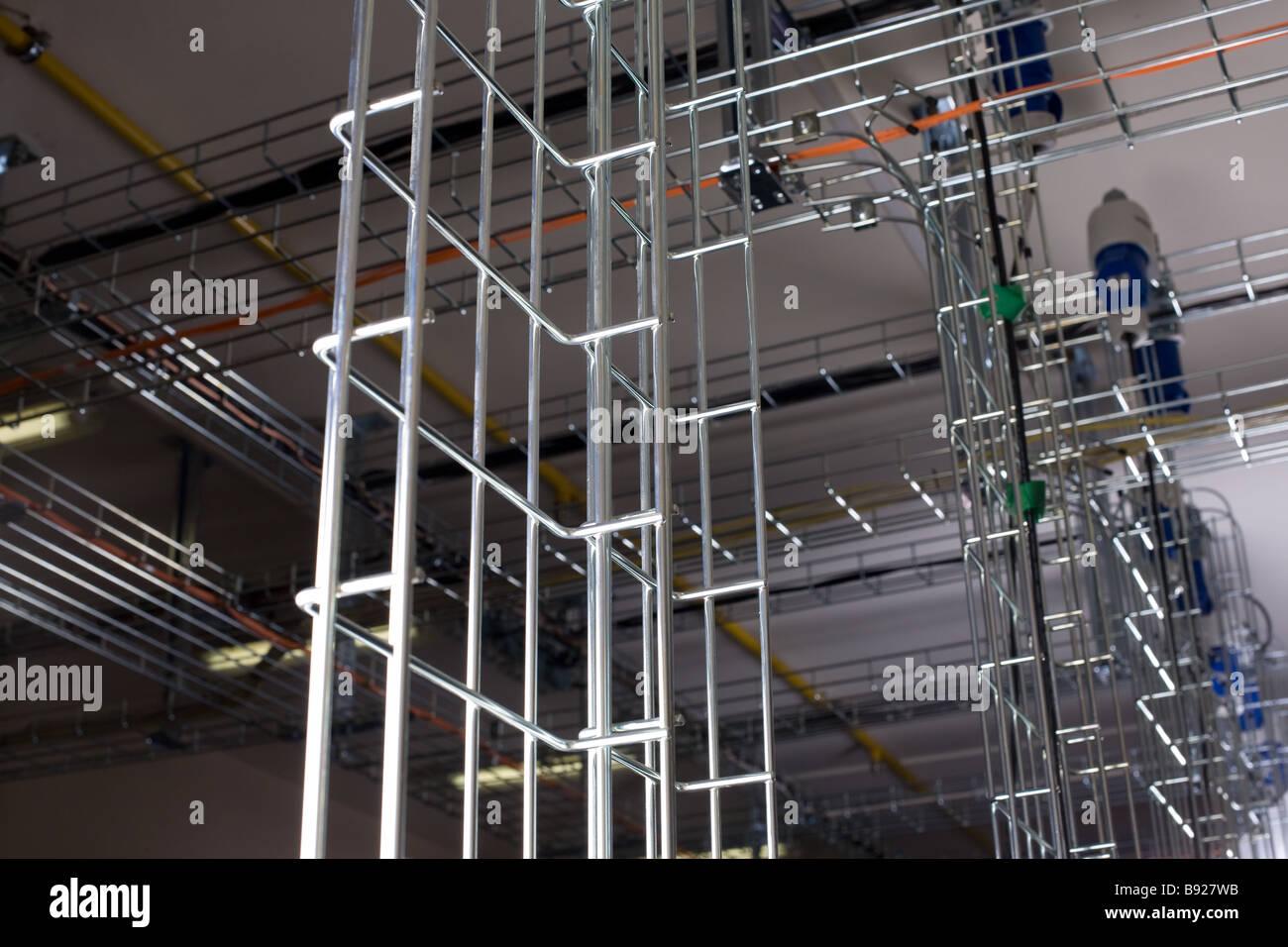 Patchcords, Ständer, Unterstützung, Rohr, Netzwerk, Kommunikation ...