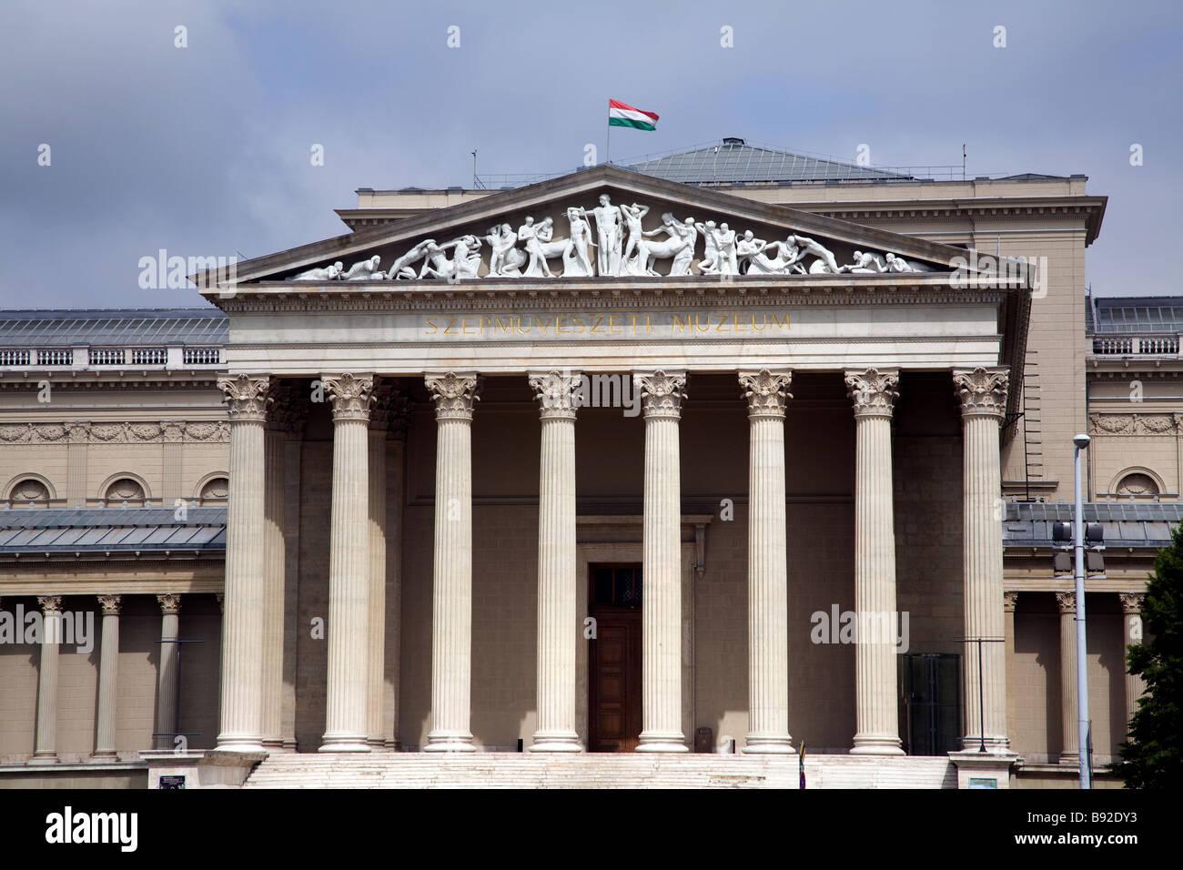 Das Museum der schönen Künste Szepmuveszeti Muzeum in Budapest Stockbild