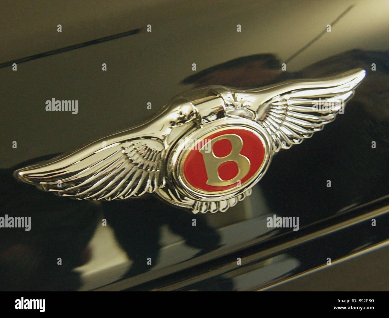 Das Logo der legendären britischen Firma Bentley, die Herstellung von einzigartigen und Zeit getestet Elite Stockbild
