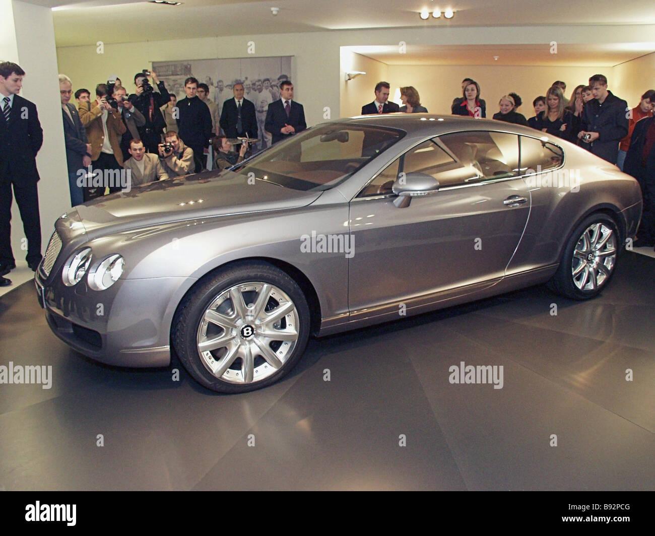 Die Elite-Autos hergestellt von der legendären britischen Firma Bentley kombinieren klassische deluxe und Sport Stockbild