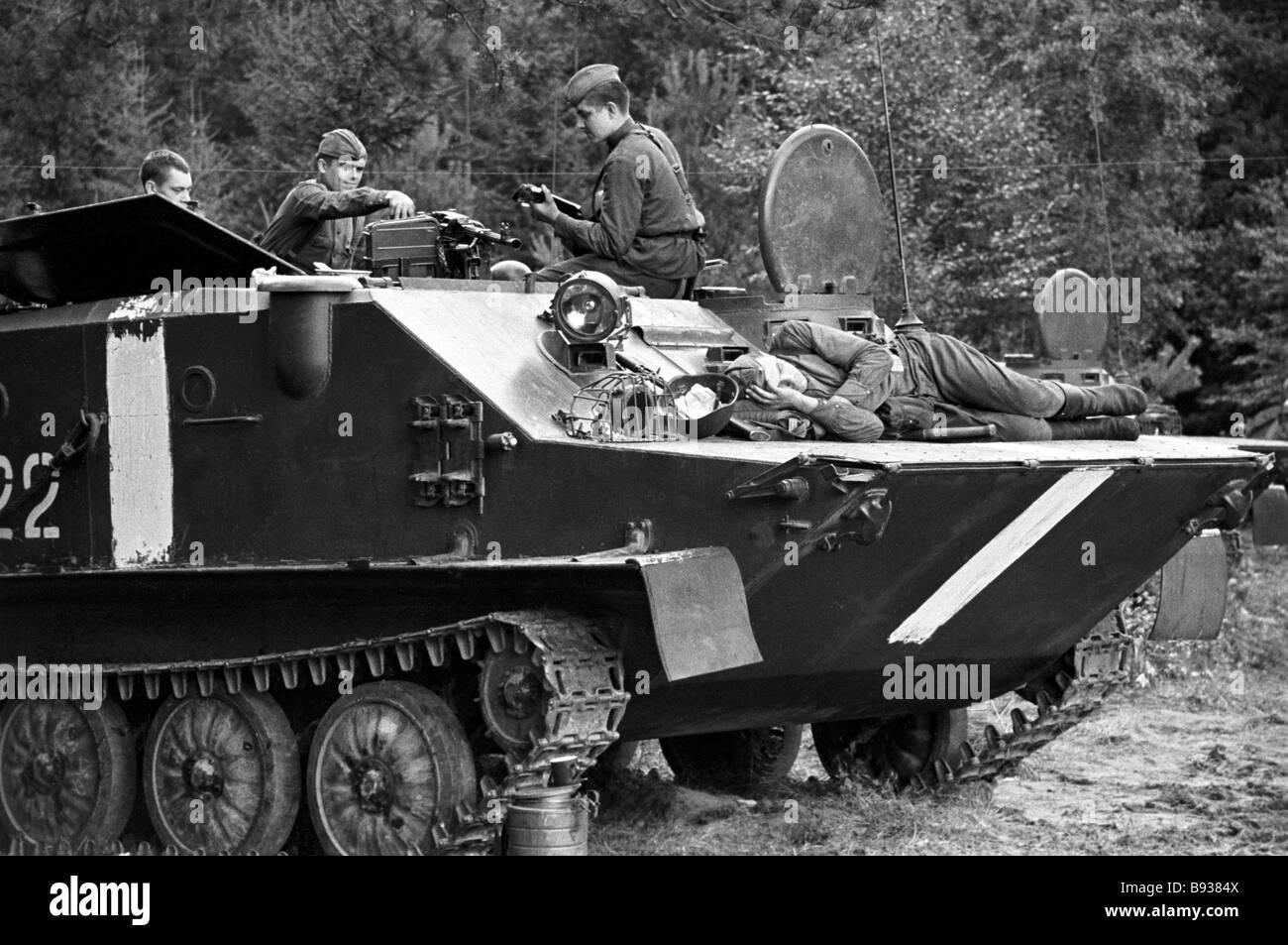 Tschechoslowakische Ereignisse 1969 Stockbild