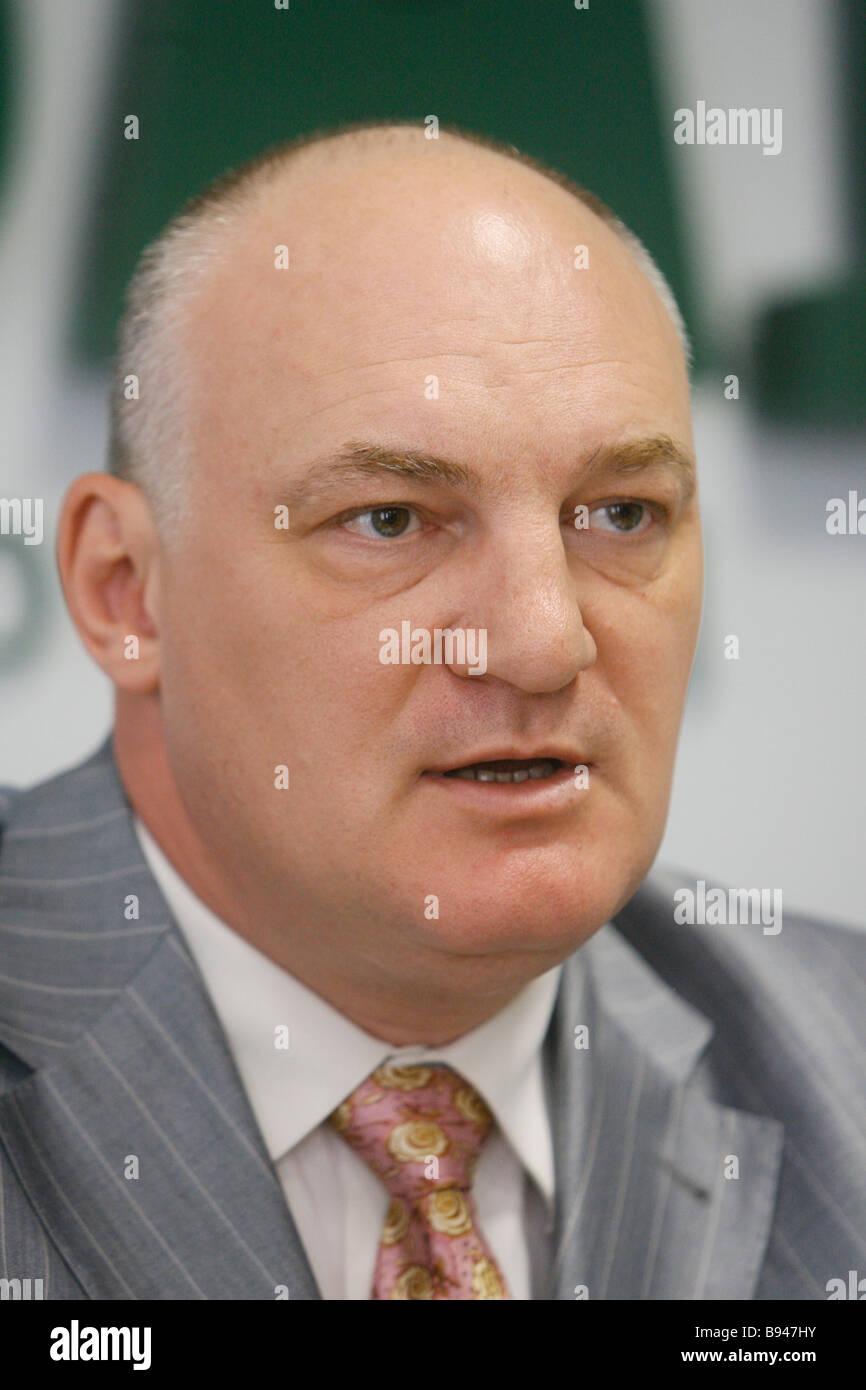 Yury Pripachkin Kopf der Renova Media Holding Stockbild