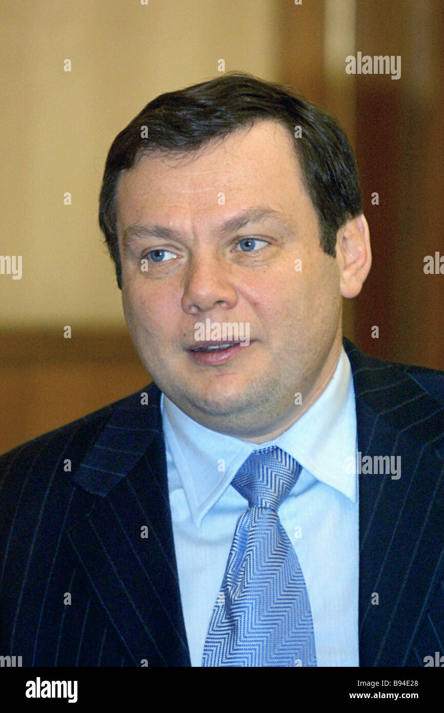 Alfa Group Chairman Mikhail Fridman Stockbild