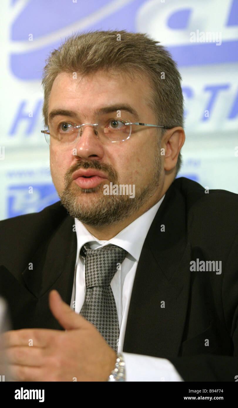 Valery Engel executive Director von der jüdischen Gemeinden der Russischen Föderation auf einer RIA Novosti Stockbild