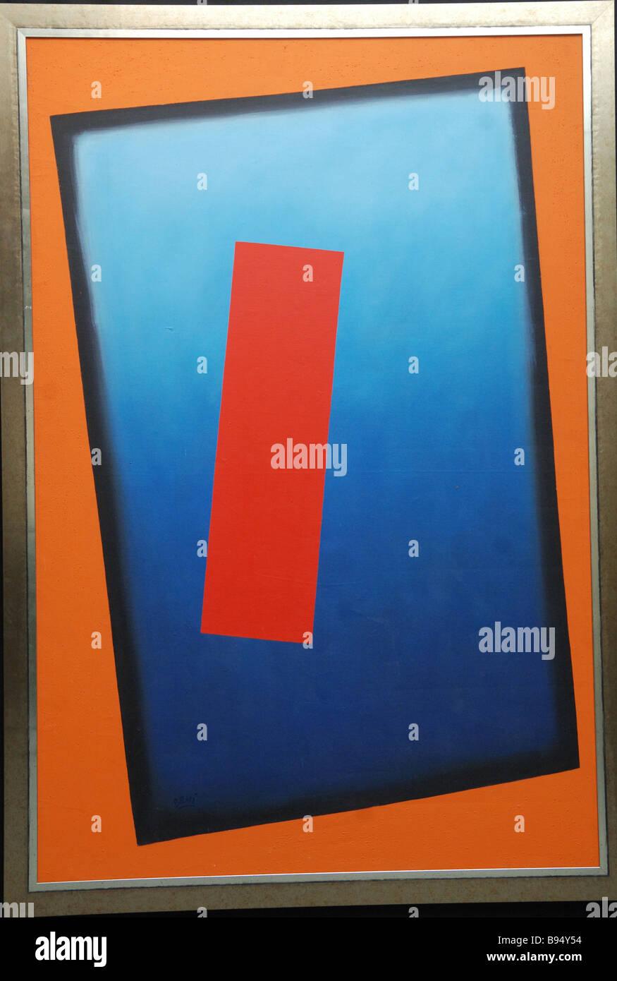 Tempel von William Brui eine Ausstellung von Gemälden und Graphik berechtigt Nonkonformisten auf dem Roten Stockbild