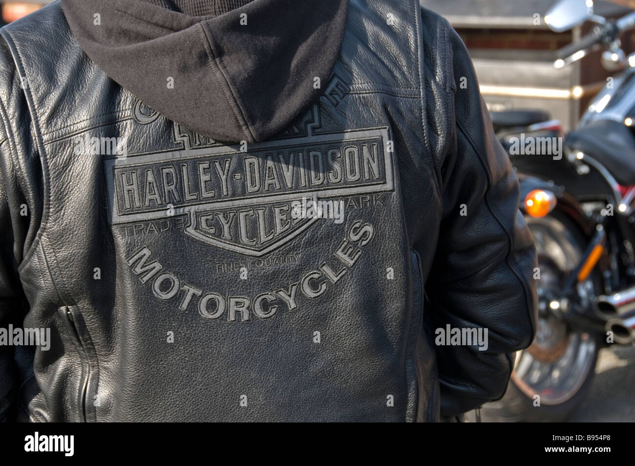 Schwarze StockfotosHarley Harley Davidson Harley StockfotosHarley Harley Davidson Schwarze Lederjacke Lederjacke uOPkZXi