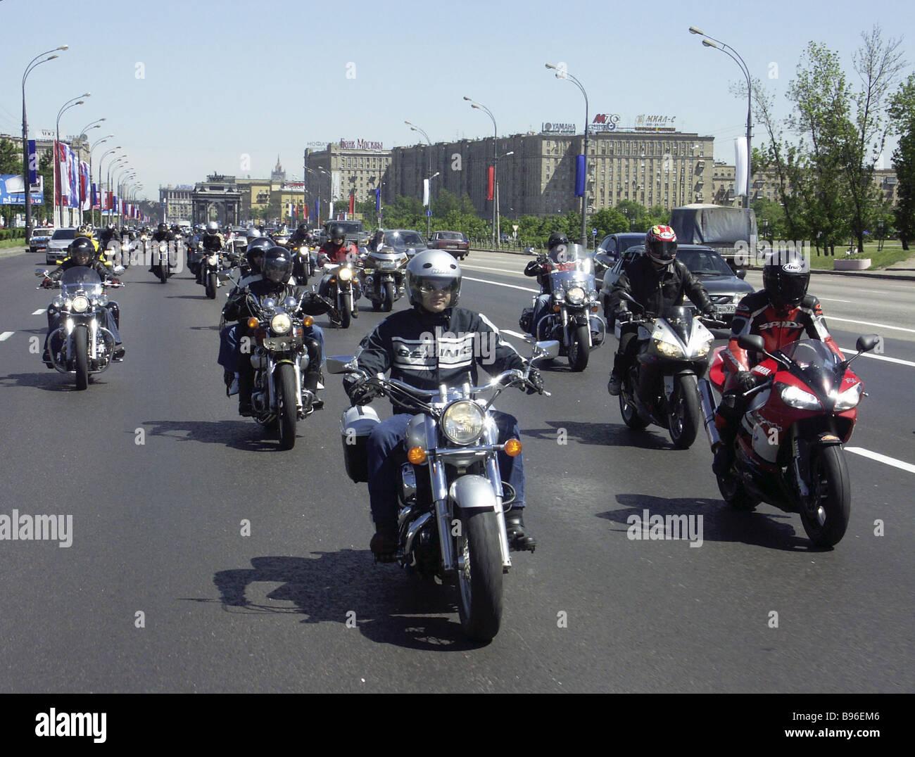 Ein Autorennen Russia Day Stockbild