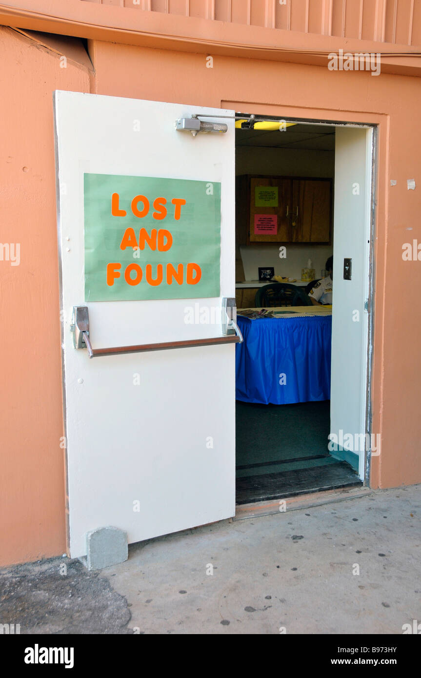 Lost And Found-Center an der Florida State Fairgrounds Tampa Stockbild